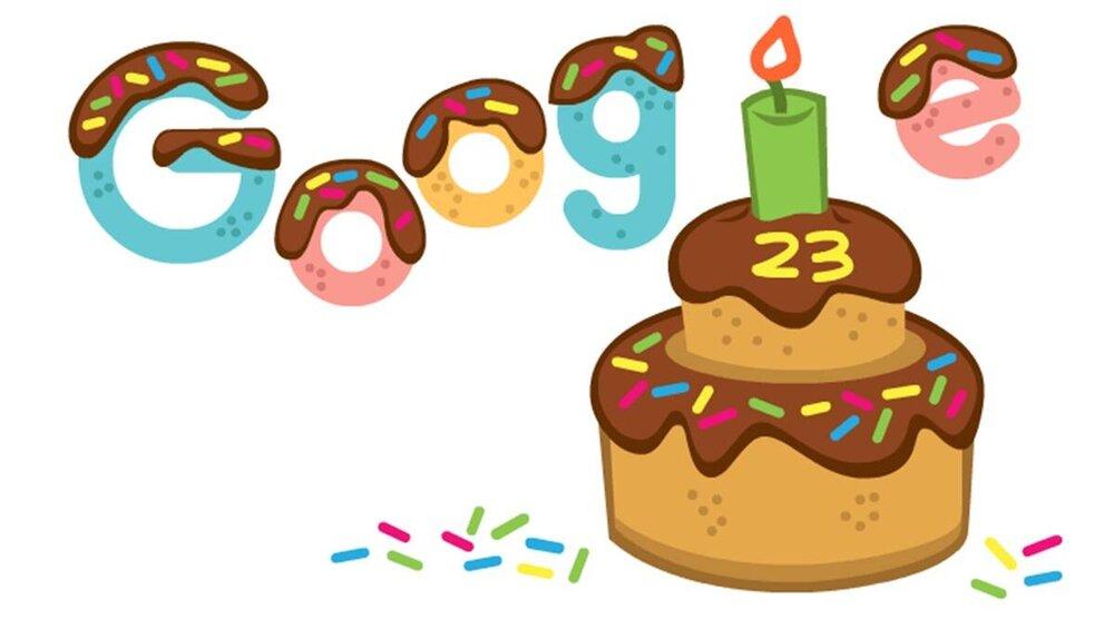 امروز تولد ۲۳ سالگی گوگل است